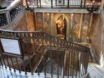 Wewnętrzna bazyliki San Juan De letrà ¡ n statua De Święty Jean-Baptiste Tombe Pape Martin V Roma Włochy Europa zdjęcie stock