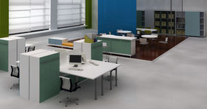 wewnętrzna biurowa otwarta przestrzeń Ilustracja Wektor