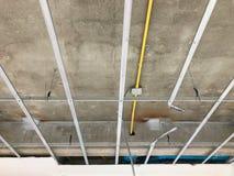 Wewnętrzna budowa budynek mieszkalny cementu sufit zdjęcie royalty free