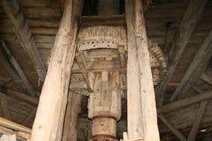 Wewnętrzna część stary wiatrowy młyn Obraz Royalty Free