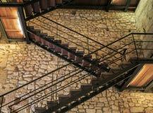 Wewnętrzna drabina robić metal i drewno zdjęcie royalty free