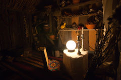 Wewnętrzna kabinowa czarownica obraz stock