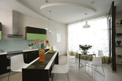 wewnętrzna kuchnia fotografia stock