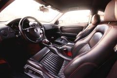wewnętrzna samochodów skóry zdjęcia stock