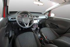 wewnętrzna samochodu w skórzany prędkość strony pojazdu Zdjęcie Stock