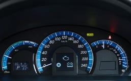 wewnętrzna samochodu w skórzany prędkość strony pojazdu Obraz Stock