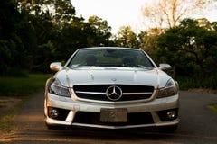 wewnętrzna samochodu w skórzany prędkość strony pojazdu Fotografia Stock