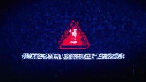 Wewnętrzna serweru błędu teksta Cyfrowego hałasu drgania usterki wykoślawienia skutka błędu animacja ilustracja wektor