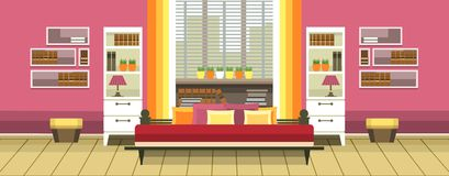 Wewnętrzna sypialnia ilustracji