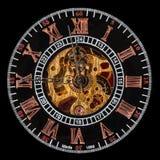 Wewnętrzna twarz antykwarskiej ręki zdyszany zegarek Fotografia Stock