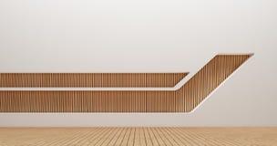 Wewnętrznego projekta ściany 3d renderingu wizerunki Obrazy Royalty Free