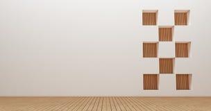 Wewnętrznego projekta ściany 3d renderingu wizerunki Obrazy Stock