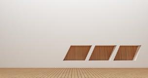 Wewnętrznego projekta ściany 3d renderingu wizerunki Obraz Stock