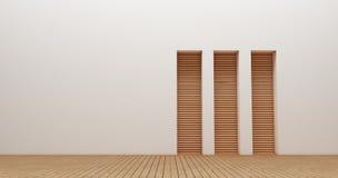 Wewnętrznego projekta ściany 3d renderingu wizerunki Zdjęcie Stock