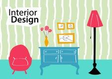 Wewnętrznego projekta nakreślenie Ilustracja Wektor