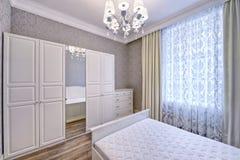 Wewnętrznego projekta piękna sypialnia w luksusu domu Obraz Royalty Free