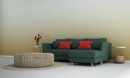 Wewnętrznego projekta pojęcie nowożytna minimalna żywa pokoju i tekstury ściana deseniuje tło zdjęcie stock