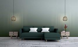 Wewnętrznego projekta pojęcie nowożytna utrzymania i zieleni ściana deseniuje tło zdjęcia stock