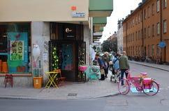 Wewnętrznego projekta sklep na Södermalm fotografia royalty free