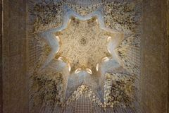 Wewnętrznej dekoracji Nasrid pałac, Alhambra, Granada zdjęcie stock