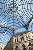 Wewnętrzni archirectural szczegóły Umberto Ja galeria w Naples, Włochy Obraz Stock