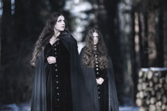 Wewnętrzni demony Kobieta w wiktoriański sukni Obraz Stock