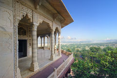 Wewnętrzni i zewnętrzni elementy Agra fort Zdjęcia Stock