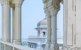 Wewnętrzni i zewnętrzni elementy Agra fort Obrazy Royalty Free