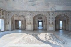 Wewnętrzni i zewnętrzni elementy Agra fort Obrazy Stock