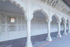 Wewnętrzni i zewnętrzni elementy Agra fort Zdjęcie Royalty Free