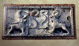 Wewnętrzni szczegóły Este roszują Castello Estense di Ferrara obrazy royalty free