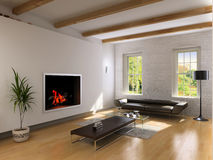wewnętrzny żywy pokój Zdjęcie Royalty Free