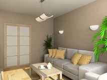 wewnętrzny żywy pokój ilustracja wektor