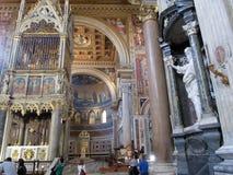 Wewnętrzny bazyliki San Juan De letrà ¡ n Roma Włochy Europa obraz stock