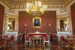 Wewnętrzny Czerwony żywy pokój w Yusupov pałac na Moika rzecznym bulwarze, Petersburg zdjęcie royalty free