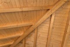 Wewnętrzny drewniany dach obrazy royalty free