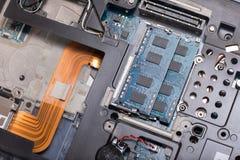 Wewnętrzny drutowanie i komputerowi elektryczni składniki zdjęcie royalty free