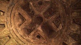 Wewnętrzny grota sufit z w zawiły sposób Islamskim łukiem deign w Buddhas Bamyan zbiory