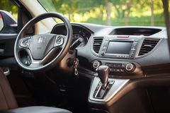 Wewnętrzny Honda CRV obrazy royalty free