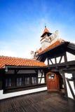 Wewnętrzny jard Dracula kasztel w Rumunia obraz stock