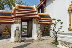 Wewnętrzny jard w Wacie Pho Kaew, Bangkok, Tajlandia obraz royalty free