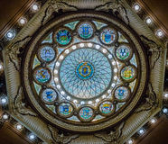 Wewnętrzny kopuła szczegół Memorial Hall w Massachusetts stanu domu Fotografia Stock