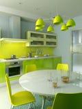 wewnętrzny kuchenny nowożytny Fotografia Stock