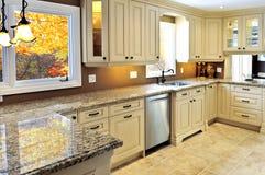 wewnętrzny kuchenny nowożytny Obrazy Stock