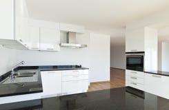 wewnętrzny kuchenny widok Zdjęcie Stock