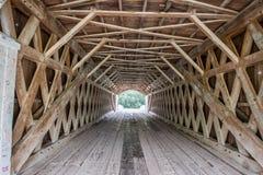 Wewnętrzny latticework Ikonowy Roseman Zakrywał most, Winterset, Madison okręg administracyjny, Iowa, usa zdjęcie stock