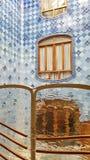 Wewnętrzny lekki Casa Batllo w Barcelona dobrze, Catalonial, zdjęcie royalty free