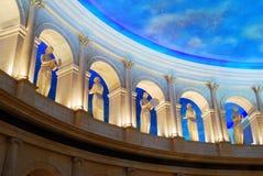 Wewnętrzny lobby Caesar pałac, Atlantycki miasto Zdjęcia Royalty Free
