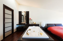 Wewnętrzny luksusowy mieszkanie, jacuzzi Zdjęcia Royalty Free