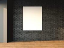Wewnętrzny mockup obramiający plakatowy 3d rendering Obrazy Royalty Free